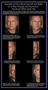 Bruce Willis smirk reversed